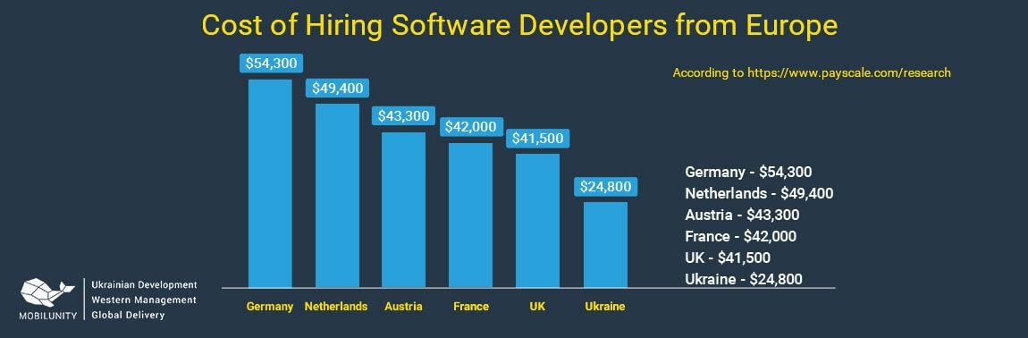 cost of custom european software development