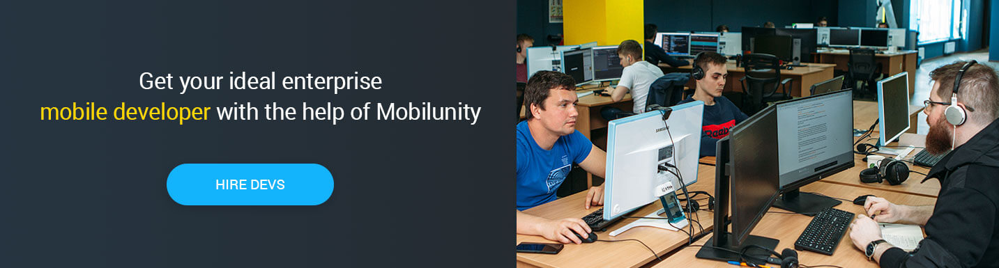 hire mobile app developer at Mobilunity