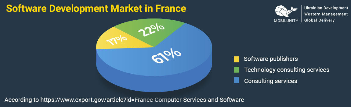 software develpoment market in france