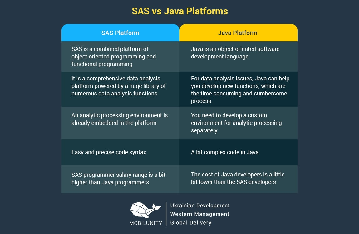 sas development vs Java