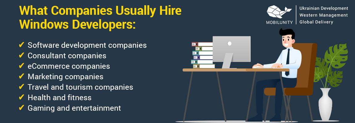companies hire windows mobile apps developer