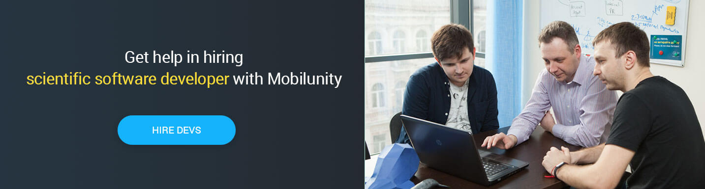 hire scientific software developer at Mobilunity