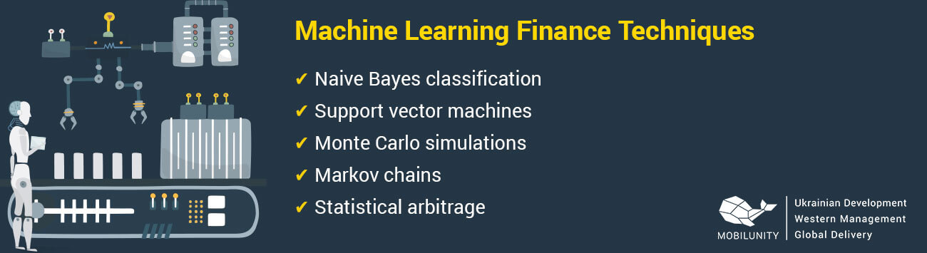 machine learning finance techniques