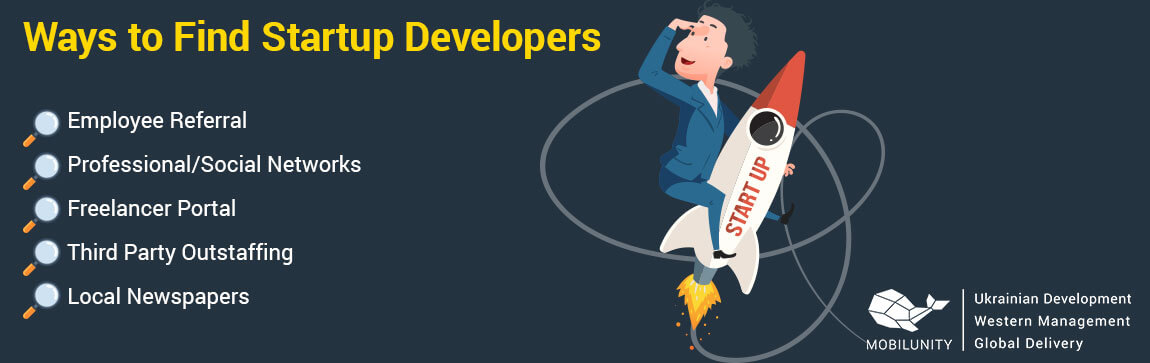 ways to find startup developer
