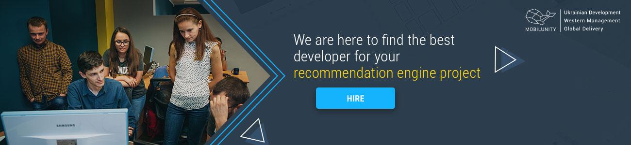 hire recommendation system python developer