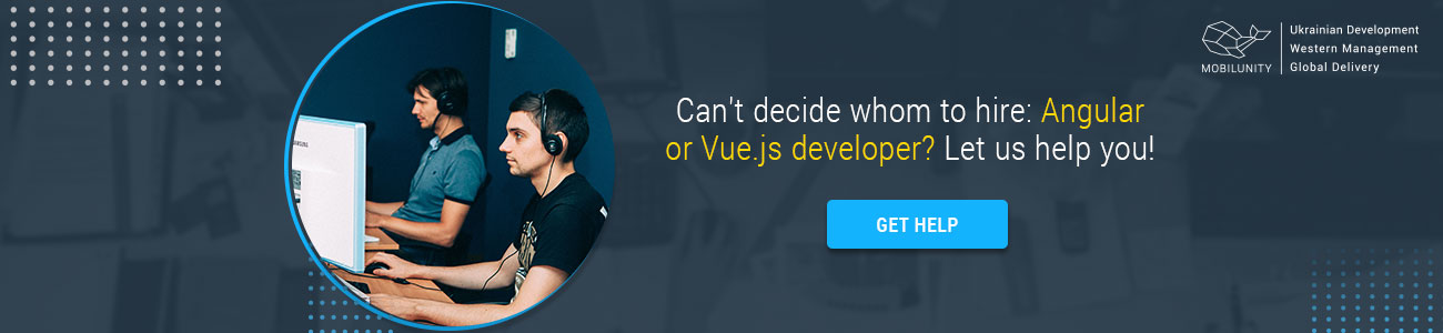 vue vs angular 2 get help