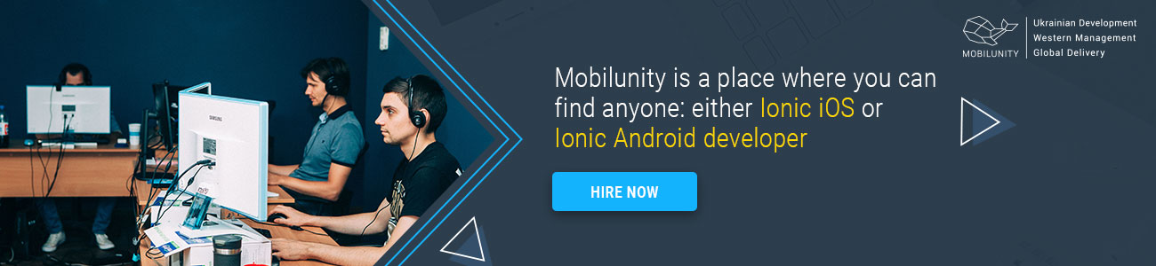 your ionic hybrid mobile app development