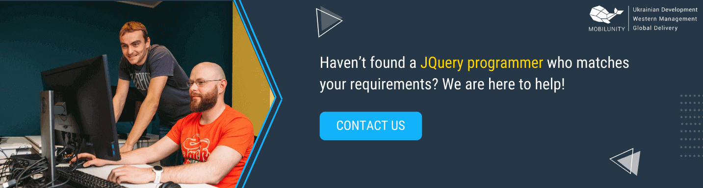 hire jquery programmers in mobilunity