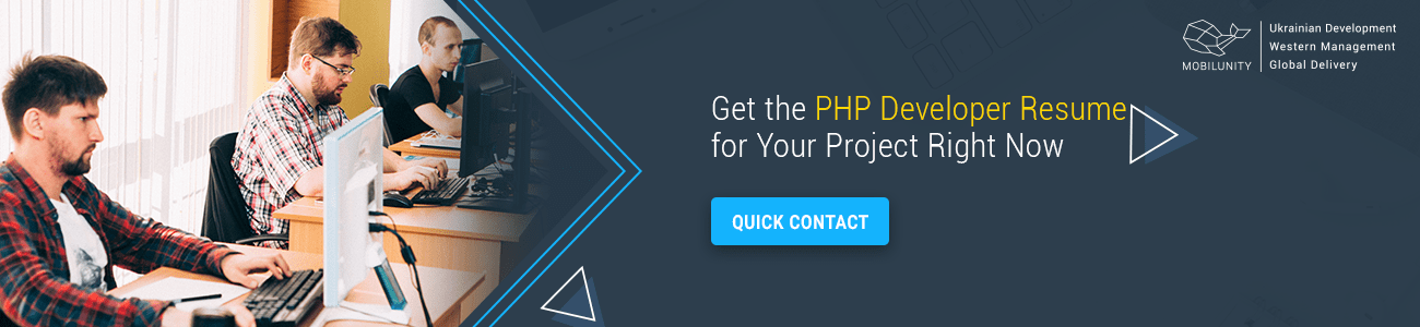 get the perfect PHP developers resume with Mobilunity