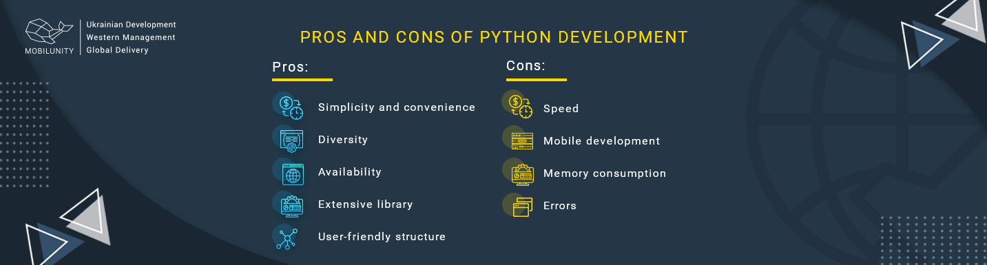 pros and cons of python application development