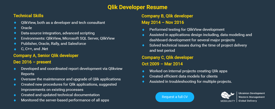 why you need to hire qlik developer for business