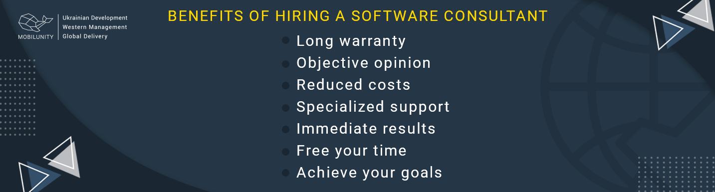 benefits to get a software engineering consultant