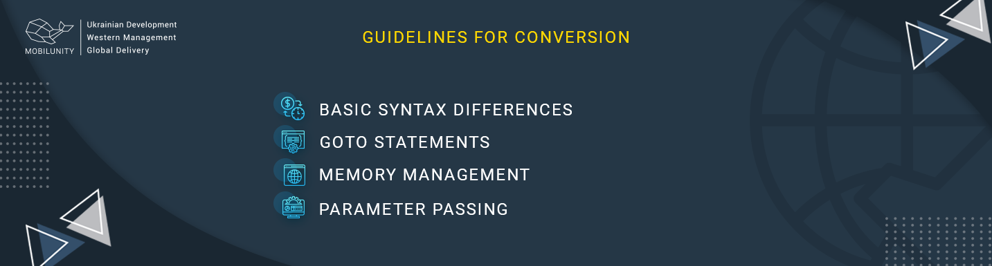 guideline for converting c++ to java