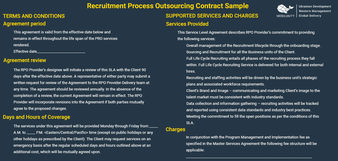 recruitment process outsourcing sample contract