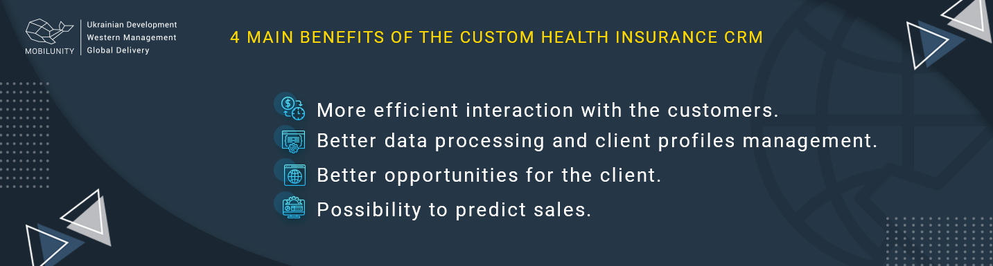 benefits of the custom health insurance crm
