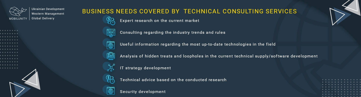 business needs covered by technical consulting services