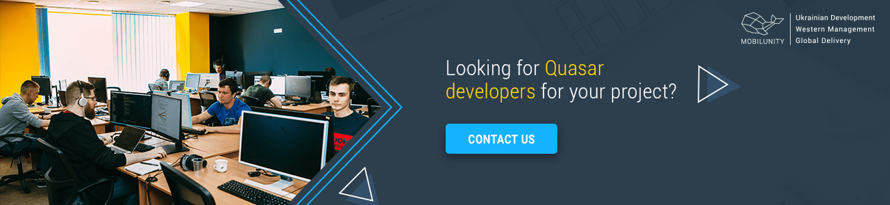 quasar developer for hire in mobilunity