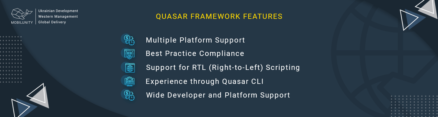 quasar framework main features