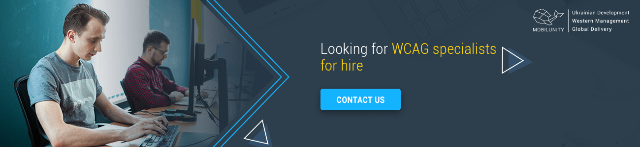 wcag specialists for hire in mobilunity