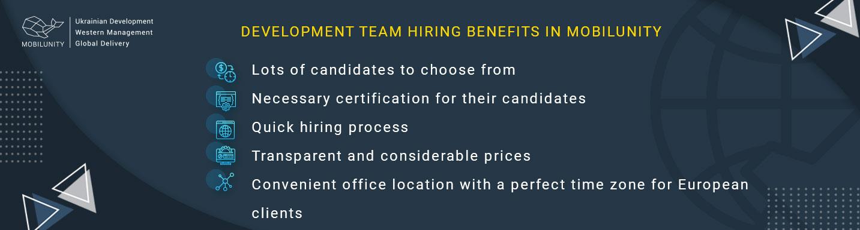 ukrainian development team hiring benefits