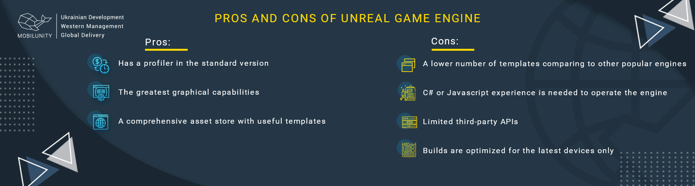 pros and cons of unreal game engine