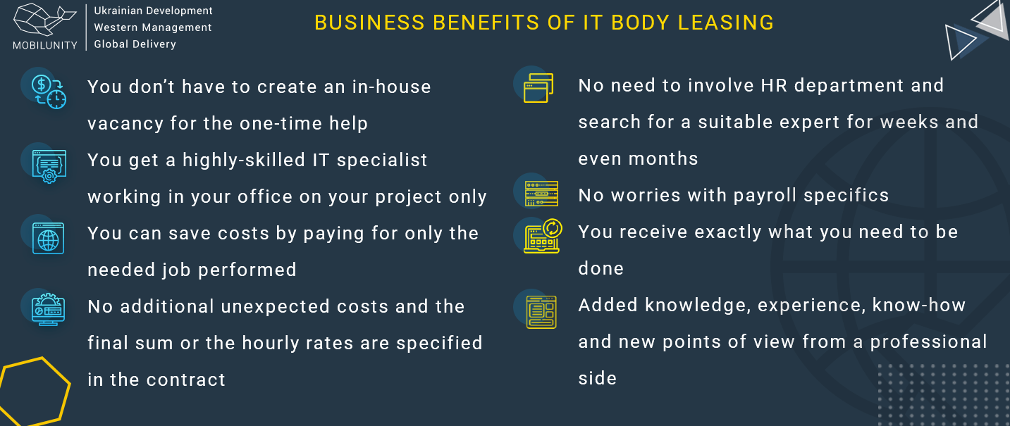 business benefits of it body leasing