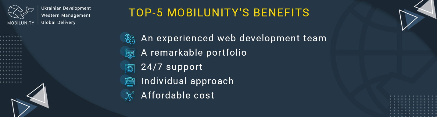 benefits of smart cost of website development in mobilunity