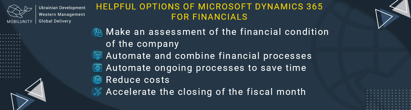 benefits of microsoft dynamics 365 for financials