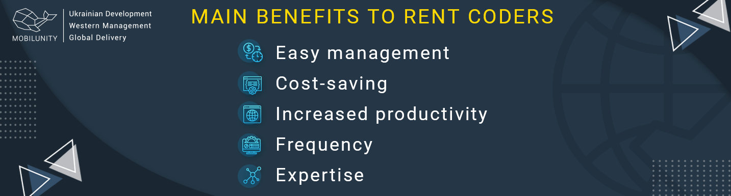 benefits to rent coders