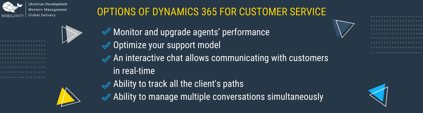 dynamics 365 customer service features