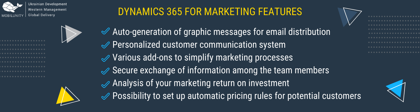 dynamics 365 for marketing features