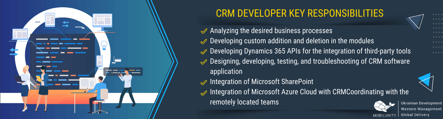dynamics crm developer roles and responsibilities