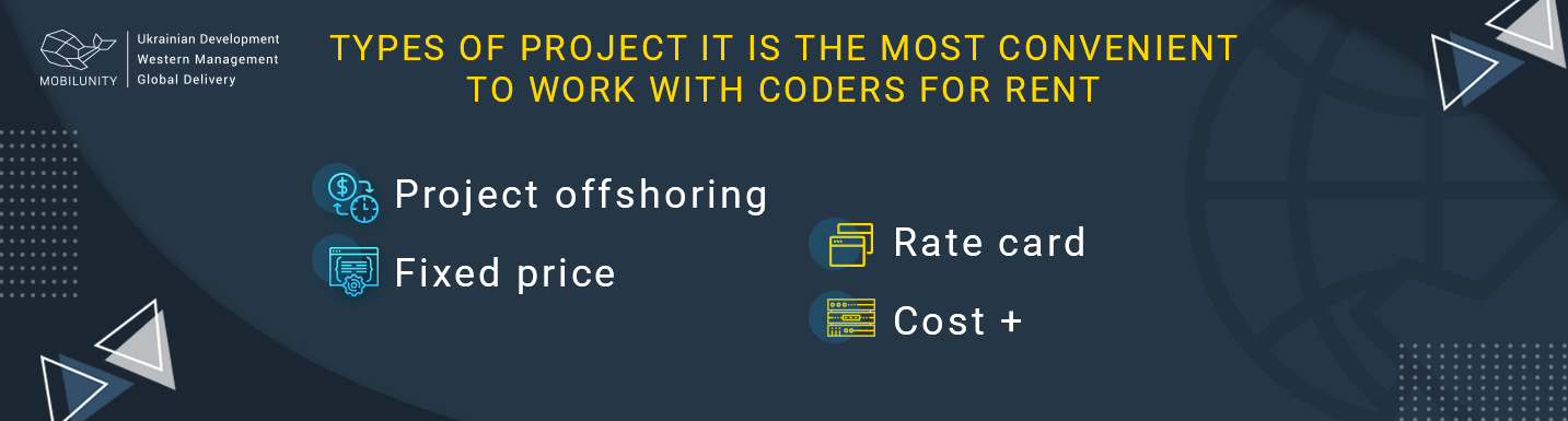 projects to work with coders for rent
