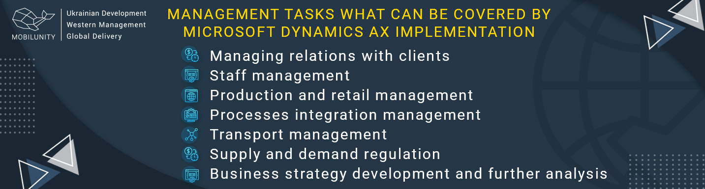 tasks what can be covered by microsoft dynamics ax implementation
