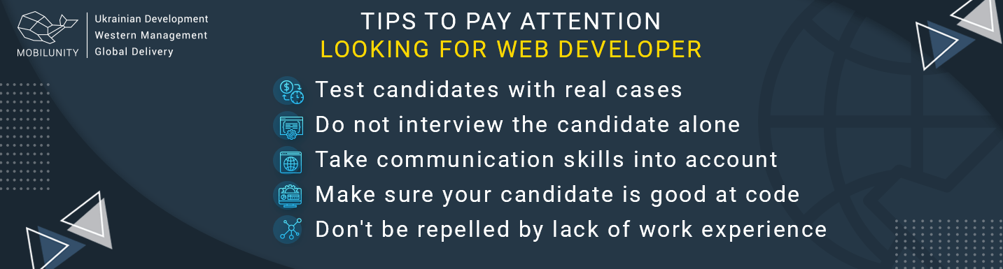 tips to pay attention looking for web developer