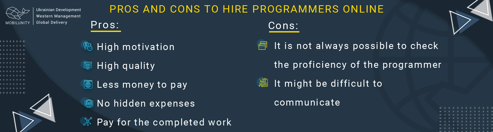 pros and cons find web developers online
