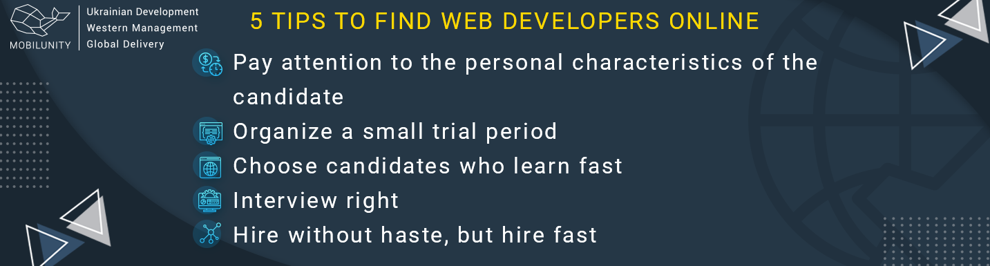 tips to find developers online