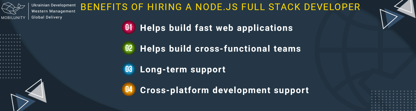 benefits of hiring node js full stack developer