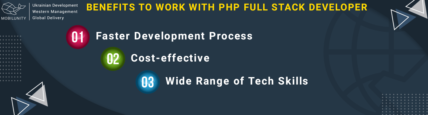 benefits to work with full-stack php developer