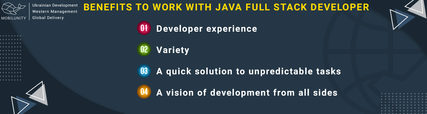 benefits to work with java full stack developer