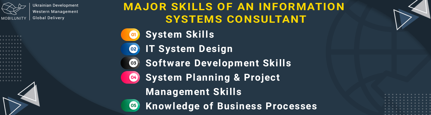 major skills of information systems consultant
