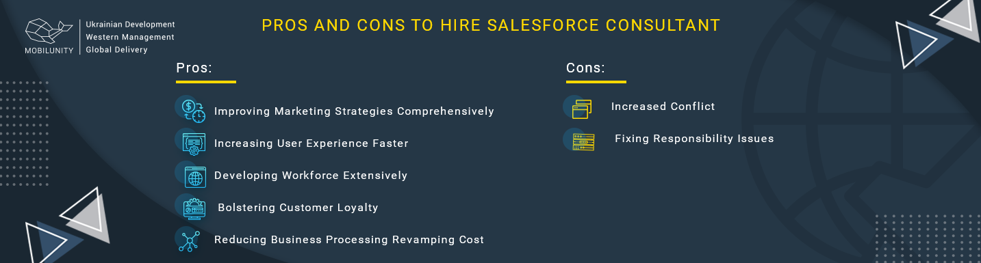 pros and cons of hiring salesforce marketing cloud consultant