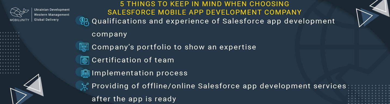 things to remember choosing salesforce mobile app development