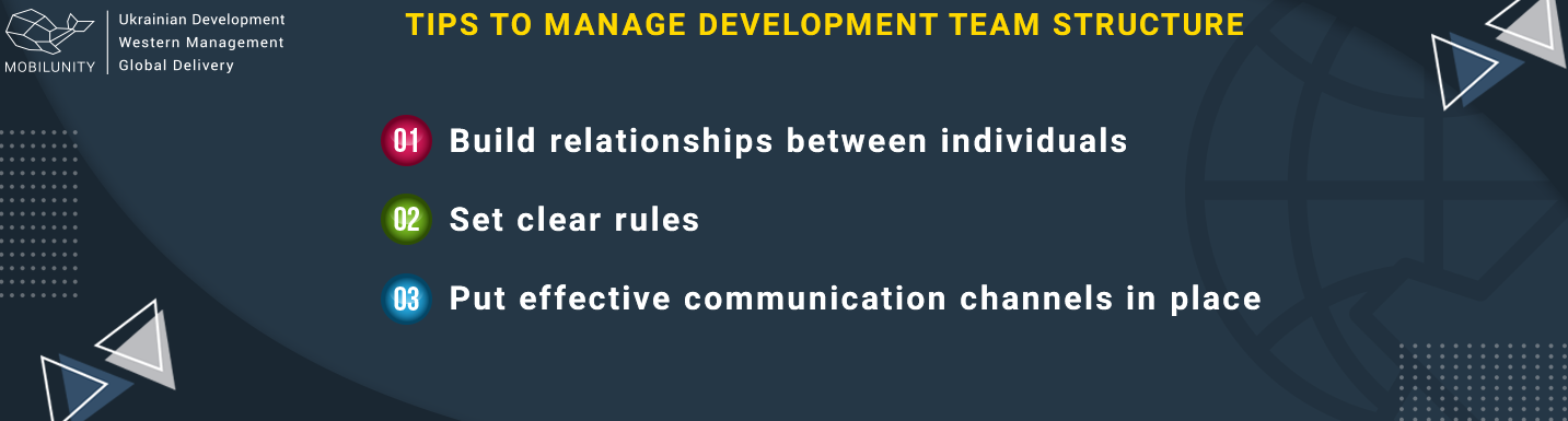 tips to manage software development teams structure