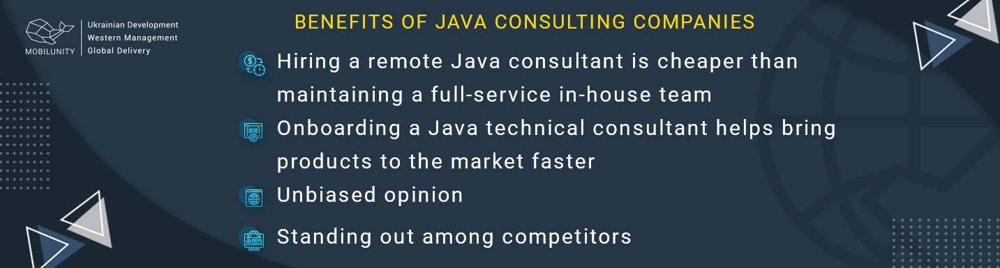 java consulting companies benefits