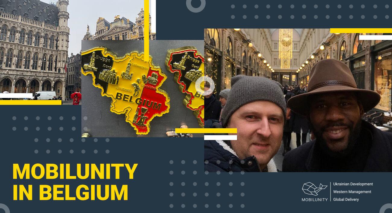 mobilunity management team business trip to Belgium