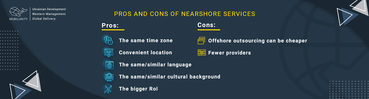 nearshore outsourcing advantages and disadvantages