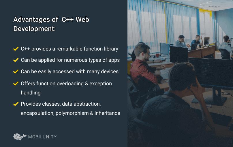 pros of C++ web development