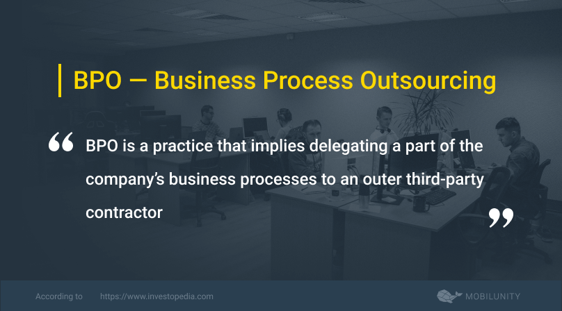 bpo or business process outsourcing definition