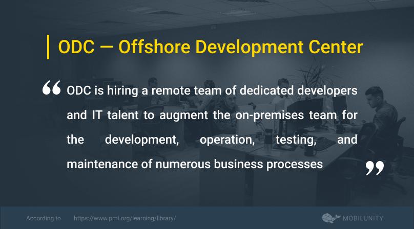 offshore development center or odc definition